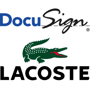 logo Docu-sign, Lacoste